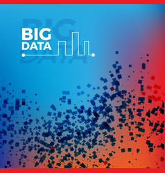 big data background vector image
