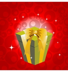 birthday gift box vector image