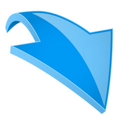 Blue 3d shiny arrow vector