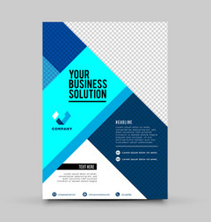blue business flyer design template vector image