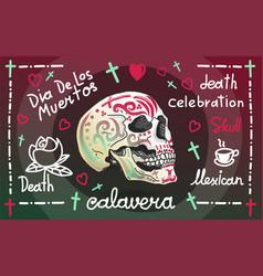 calavera greeting banner vector image