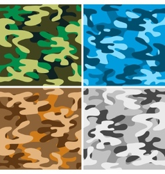 Camouflage backgrounds vector image