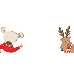 cartoon banner for holiday theme with bear vector image