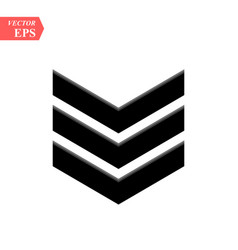 Chevron icon on white background flat style vector