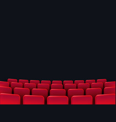 cinema seats isolated vector image