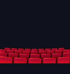 cinema seats isolated vector image