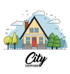 city landscape design vector image