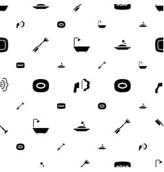 cleanliness icons pattern seamless white vector image