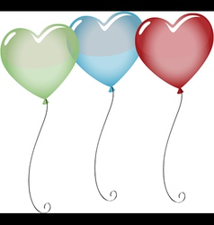 Colorful heart shape balloons vector