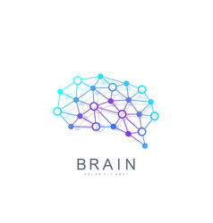 colorful template brain logo creative idea vector image