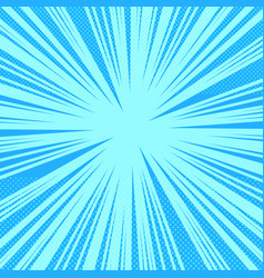 Comic book page bright blue background vector
