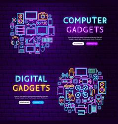 computer gadgets website banners vector image