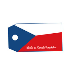 czech republic flag on price tag with word made vector image