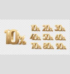 discount numbers set vector image