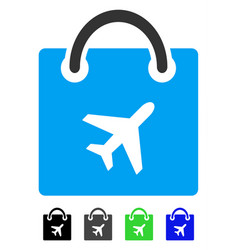 Duty free shopping flat icon vector