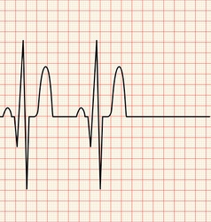 Electronic graph on red grid vector