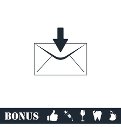 Email icon flat vector