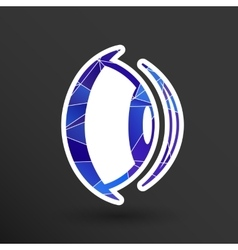 Eye icon vision view look see sight symbol vector