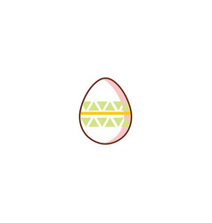 flat easter decorated chicken egg vector image