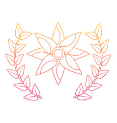 flower wreath floral decoration ornament vector image