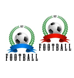 Football or soccer retro emblem vector image