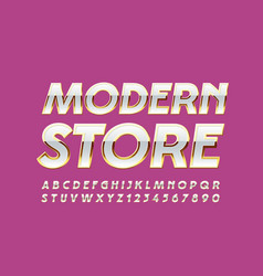 glamour logo modern store with elegant font vector image