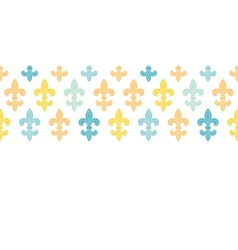 God and blue lily horizontal seamless pattern vector image