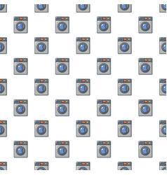 Grey washing machine pattern seamless vector