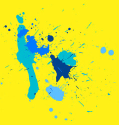 grunge hand made color ink drop elements vector image