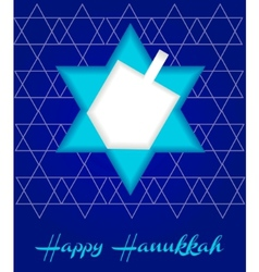 Happy hanukah card vector
