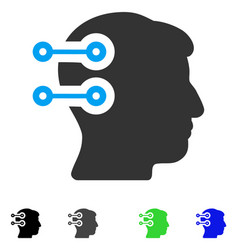 Head connectors flat icon vector