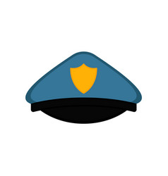 isolated police officer hat icon vector image