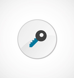 Key icon 2 colored vector