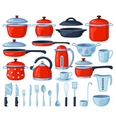 Kitchenware tools kitchen cooking and baking vector