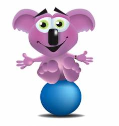 Koala bear on a ball vector