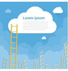 ladder to clouds vector image