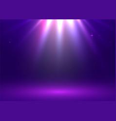 Light show studio table room product display vector