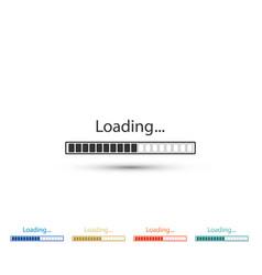 loading icon isolated progress bar icon vector image