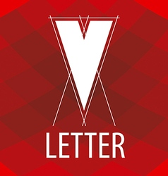Logo the letter V in the form of a drawing vector