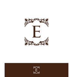 Luxury initial letter e logo vector