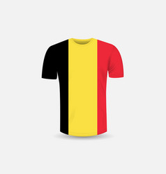 Mens t-shirt icon and belgium flag vector
