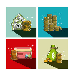 money and investment vector image