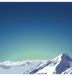 mountains theme beautifull mountain vector image