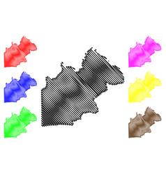 Nakhon nayok province map vector