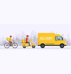 online delivery service concept order goods vector image