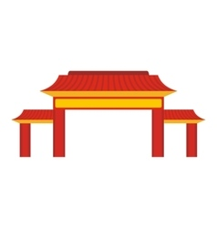 Pagoda icon flat style vector image