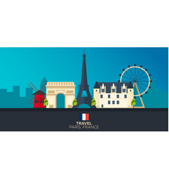 paris tourism travelling paris city vector image