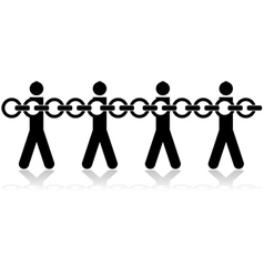 People chained vector image