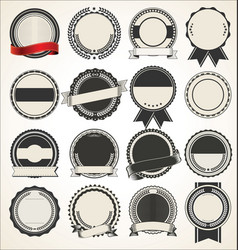 set blank retro vintage badges vector image