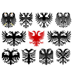 set of heraldic german eagles vector image